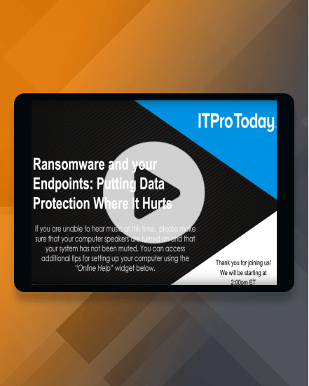 Ransomware and your Endpoints